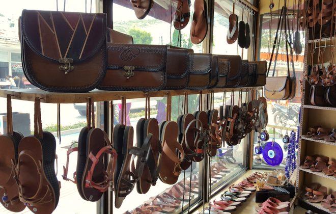 datça deri sandalet çanta şehir günlüğü