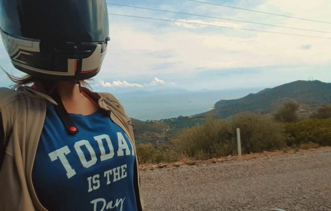 datça knidos motosiklet yol geyik
